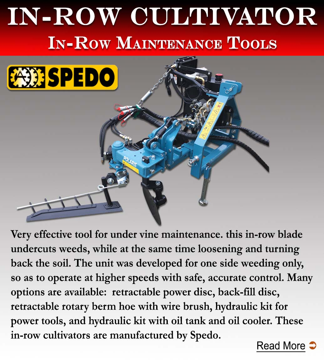 Spedo In Row cultivator