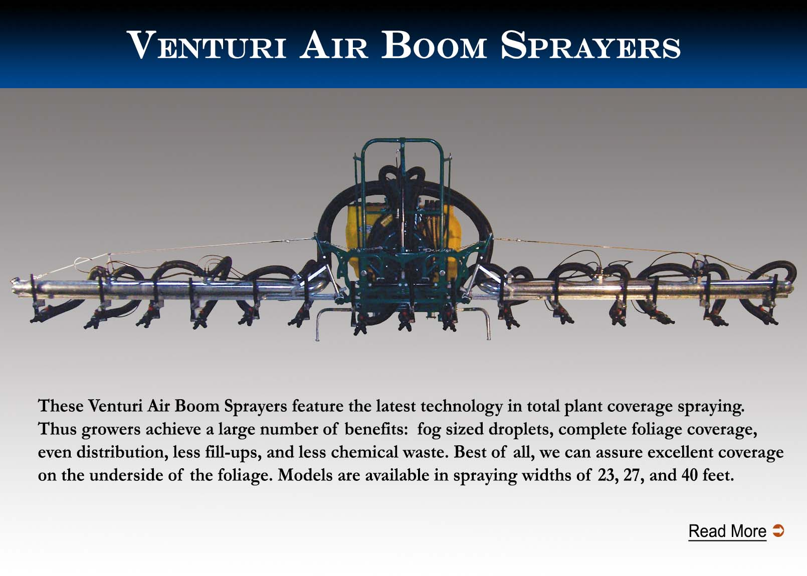 Air Boom Sprayers