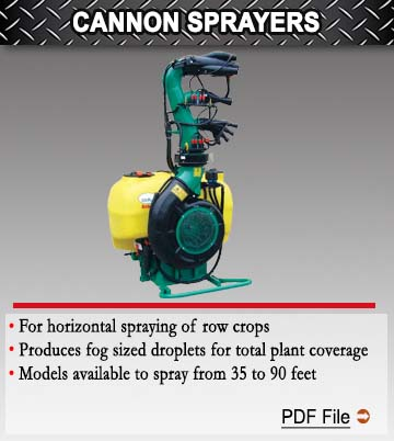 Cannon Hedge Row Sprayers