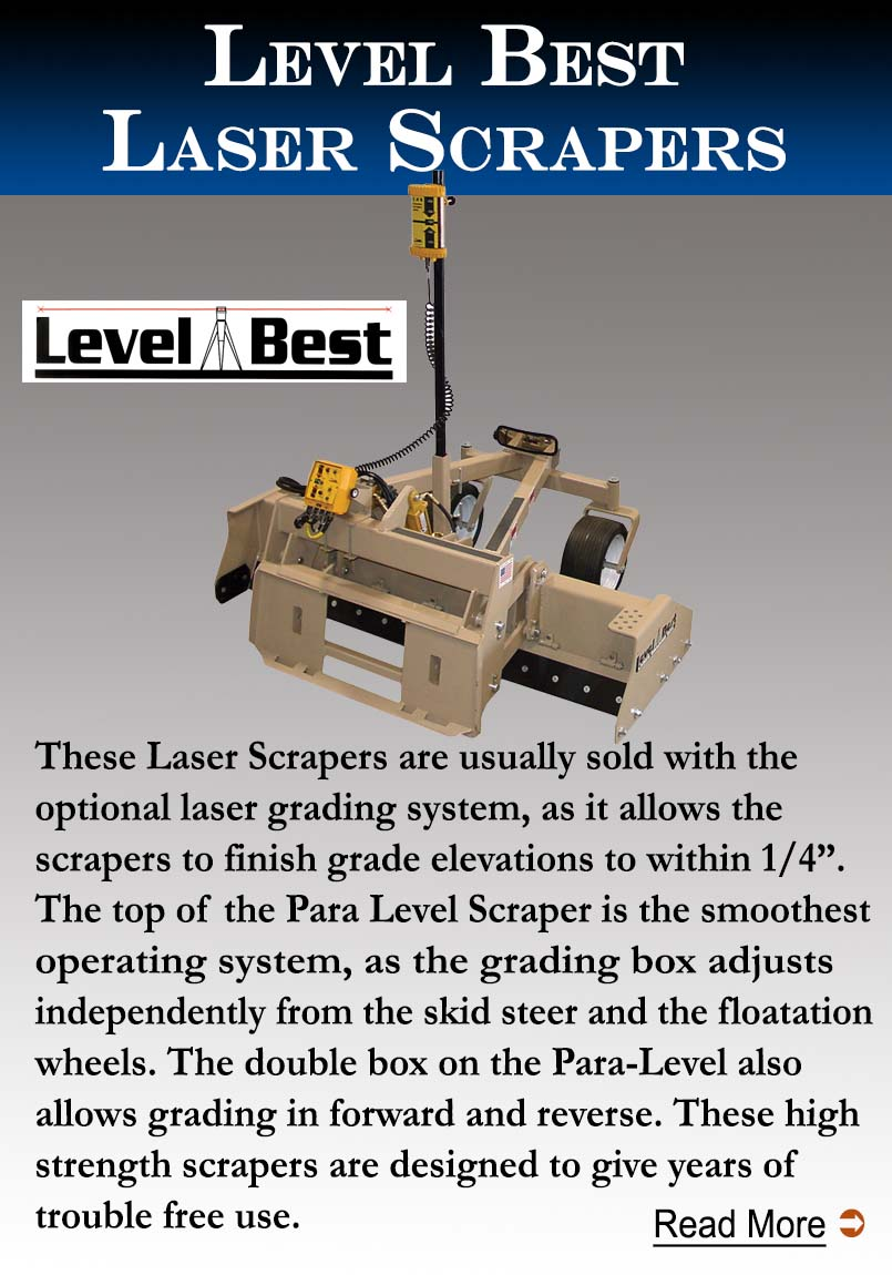 Level Best Laser Grading Scrapers