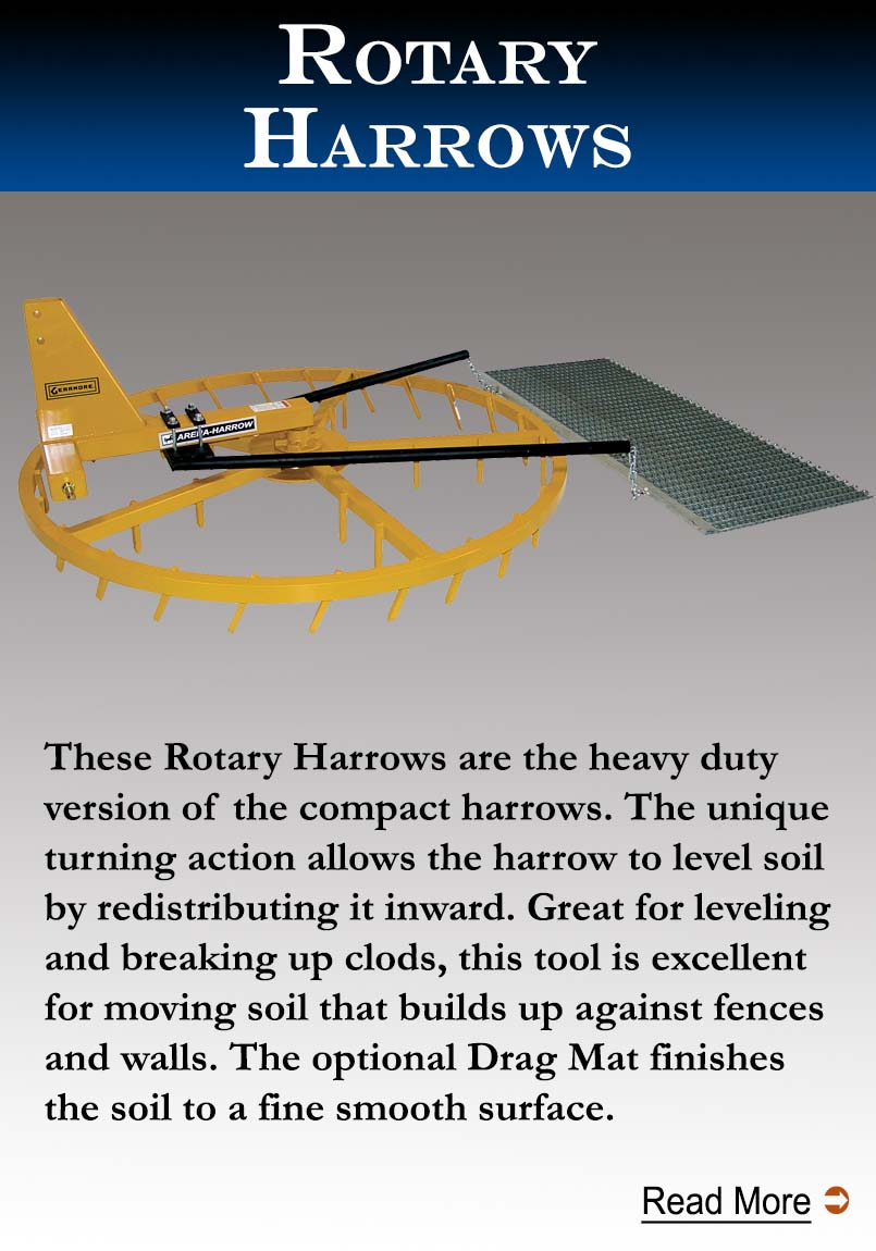 Rotary Harrows with Drag Mat