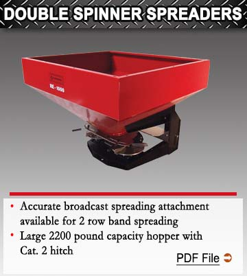 Double Spinner Spreaders